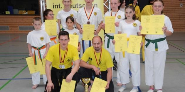 Erfolgreich kehrten die Kampfsportler des TV Dienheim von den Deutschen Meisterschaften im Schwarzwald zurück.