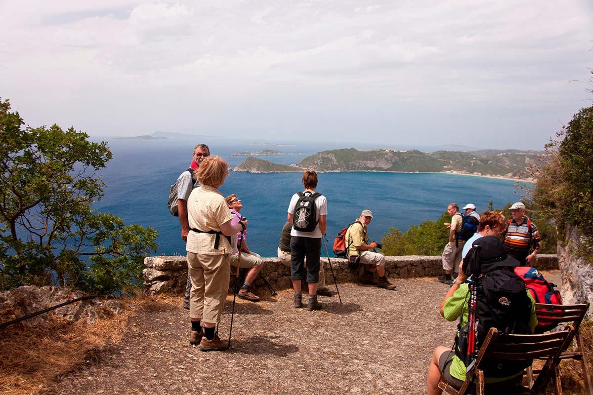Herrliche Ausblicke erlebte die Wandergruppe der DAV-Sektion Worms auf der grünen Insel Korfu.