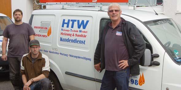 Das Team von HTW:   v.l.n.r. Mirko Schöneck, Dennis Wrobel, Klaus Wrobel.