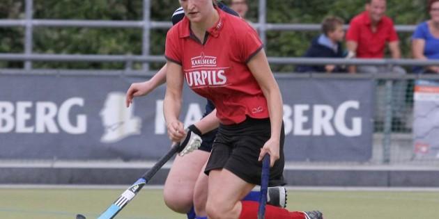 Emma Fostur führte sich bei den TGW Hockey-Damen mit ihrem Tor zum 1:1-Ausgleich gegen den TSV Schott Mainz bestens ein. Foto: madi