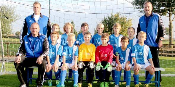 Die U10-Junioren des SV Hochheim mit neuem Outfit