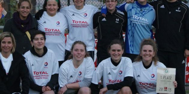 Die Fußball-Damen des TV 1888 Eich jubelten über die Meisterschaft in der Freizeitkicker-Liga und im Pokal.