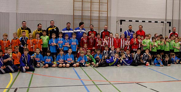 Beim Turnier der F-Junioren waren alle Mannschaften Sieger, wurde doch ohne Wertung nach Toren und Punkten gespielt.