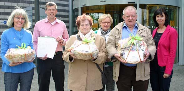 Beatrix de Boer-Götz, Bernhard Büttner, Heidrun Eick (für Heino Lang), Irmtraud Seckler, Walter Klingler und Gabriele Reichel (von links).