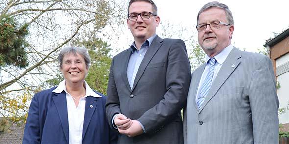 Jutta Herbert, Alexander Ebert und Harald Storch (von links).