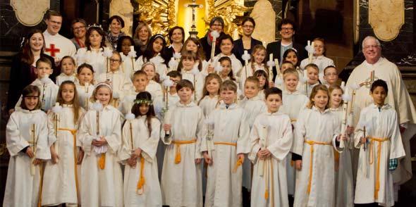 36 Kinder der Dom- und Martinsgemeinde empfingen am vergangenen Sonntag ihre Erste Heilige Kommunion.