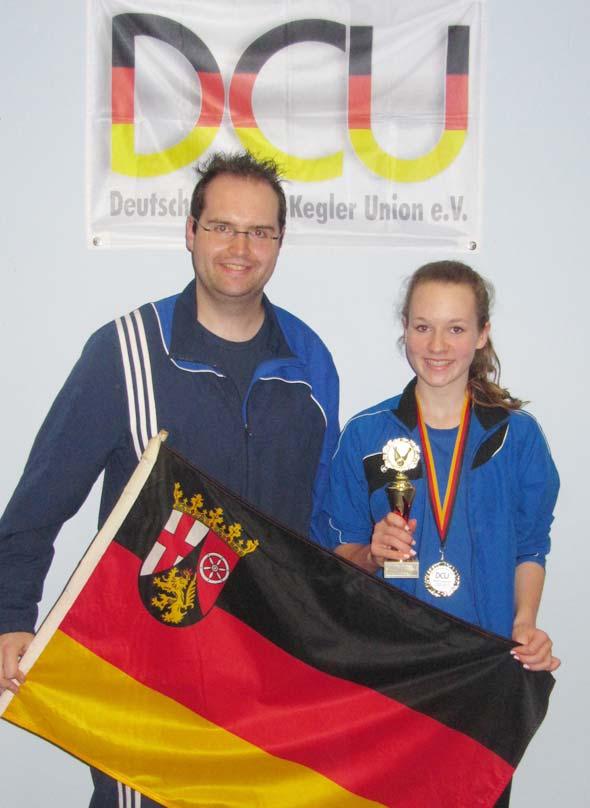 Julia Breyvogel mit Trainer Sebastian Klonner
