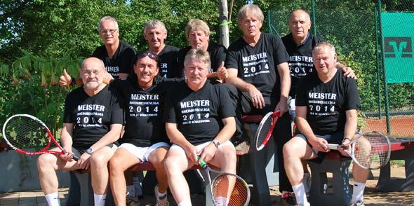 Herren 55 des TCB sind Meister der Rheinhessenliga