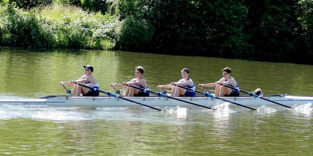 Souverän im Doppelvierer zum Landestitel (von links): Jonas Burkhardt, Markus Feils, Florian Marx, Daniel Jung und Steuermann David Brandt.