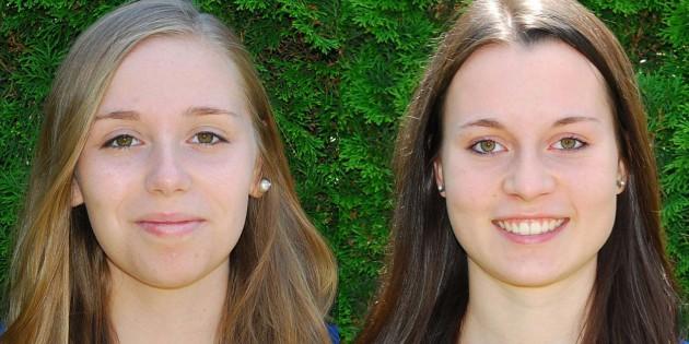 Deutsche Meisterinnen in der Mannschaftswertung U-18: Nina Lipka und Sandra Breyvogel (von links).