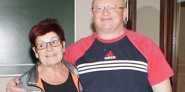 Das Siegerteam Ursula Belzer und Rudi Oswald.