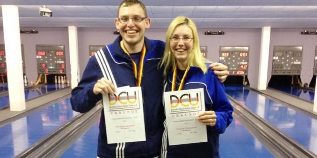 Christian Schenk und Yvonne Schweizer waren für die Monsheimer Sportkegler erfolgreich.