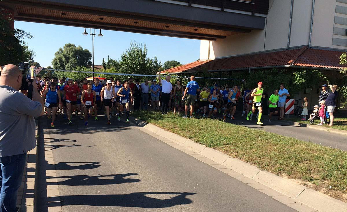 Startschuss zum Erlebnislauf an der Weinstraße am Sonntagmorgen.  Foto: Robert Lehr