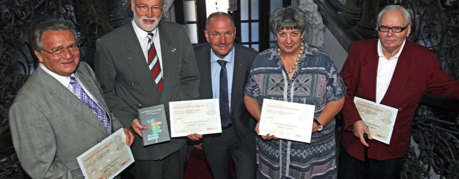 CDU Worms vergibt erstmals Professor Dr. Otto Bardong Preis