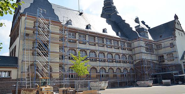 Die Arbeiten an der Ernst-Ludwig-Grudnschule werden sich bis ins Jahr 2018 hinziehen. Archivfoto: Gernot Kirch