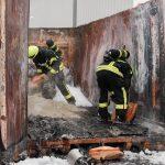 Müllcontainer geriet in Brand
