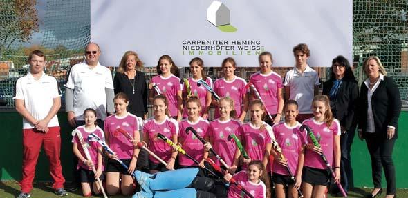 Die Hockey-Mädchen der TGW im neuen Dress
