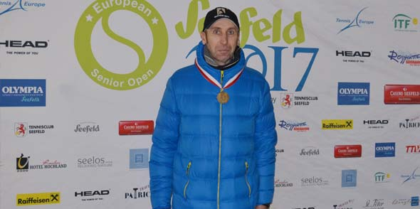 Der Drittplatzierte der Europameisterschaften Jörg Herckelrath.