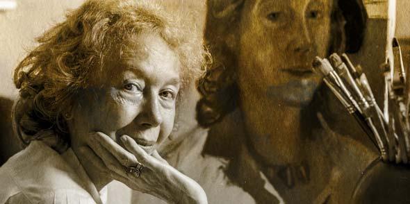 Die vielseitige Kunstschaffende Agathe Sander. Foto: Stadtarchiv, Fotografin: Ursula Orth-Giesen