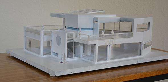 Das Modell des zweigeschossigen Nannini-Cafés. Foto: Gernot Kirch