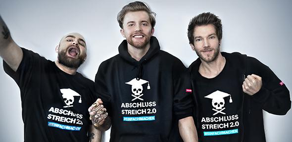 Starke Partner für eine starke Aktionen: das YouTube-Trio ApeCrime.
