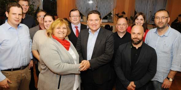 MdB Marcus Held im Kreise der Osthofener Genossen. Foto: Mirco Metzler/Die Knipser