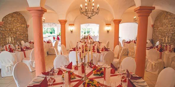 Das historische Weingewölbe bietet vor allem für Hochzeiten ein ganz besonderes Ambiente.