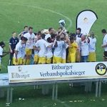 Der SV Morlautern bei der heutigen Siegerehrung. Foto: Steffen Heumann