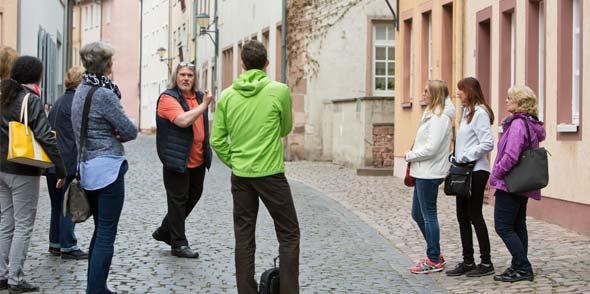 """Die Führung zum """"Jüdischen Worms"""" geht natürlich auch durch die Judengasse. Foto: Bernward Bertram"""