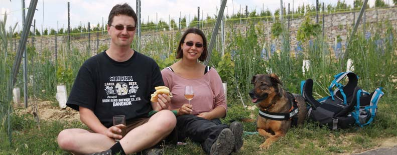 Saskia und Andreas Best mit Bella planen, im nächsten Jahr wieder nach Gundersheim zu kommen.