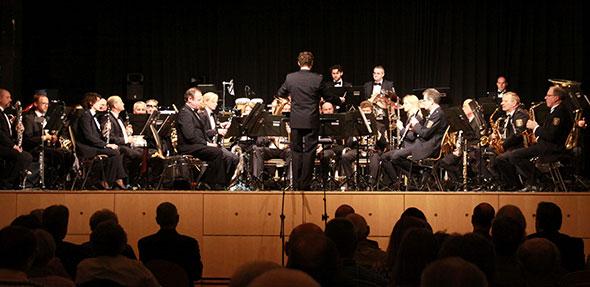 Das Landespolizeiorchester Rheinland-Pfalz begeisterte am Freitag in Bobenheim-Roxheim. Foto: Karolina Krüger