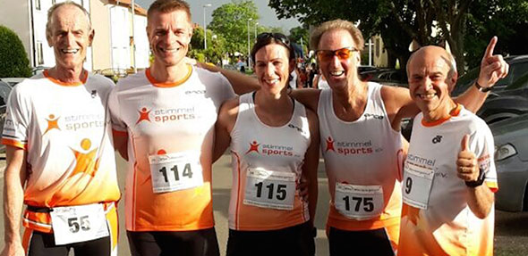 Die stimmel-sports Athleten beim Weinbergslauf in Grünstadt.