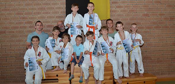 Die Mannschaft des  1. Judo Club Worms überzeugte beim Bezirksturnier in Eppelsheim.