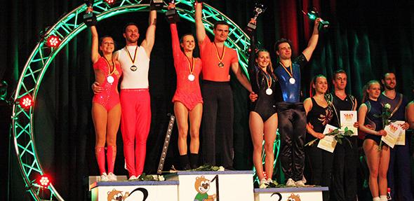 Die Tänzer und Tänzerinnen von Rockin Wormel Worms zeigte tolle Leistungen bei den Deutschen Meisterschaften