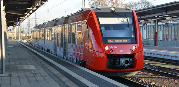 Am Samstag, den 24. Juni, fallen Züge auf der Strecke von Worms nach Bensheim aus.