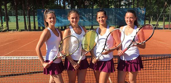 Die Damenmannschaft in der Rheinhessenliga mit Paolisa Stipa, Jana Wagner, Shana Lang und Julia Wagner zeigten ein starke Leistung.