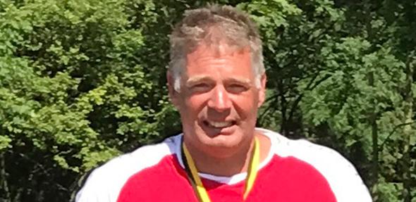 Jörg Kaufmann ging über die 5.000 Meter Freistil an den Start.