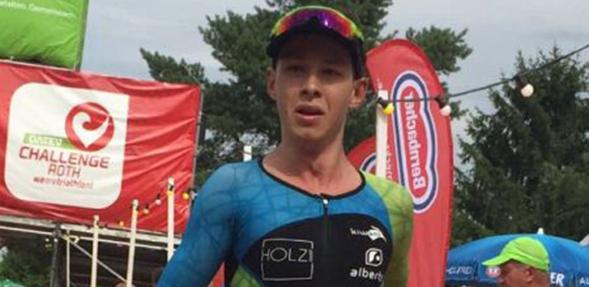 Tom Holzmann lieferte trotz großer Hitze eine starke Laufleistung ab.