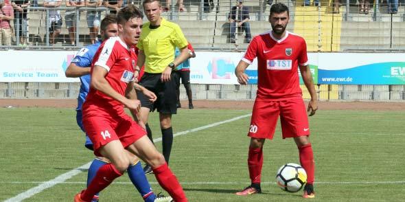 Wormatia-Neuzugang Thomas Gösweiner zeigte bei seiner Einwechslung nach der Pause gegen den FSV Mainz 05 II einige hoffnungsvolle Akzente.