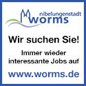 Stadt Worms Stellenbanner