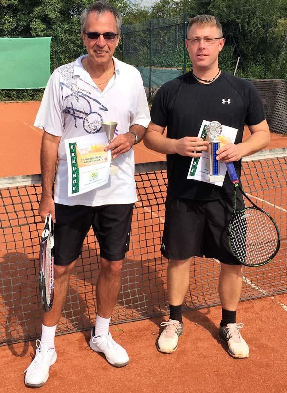 Peter Raus und der Sieger Christian Wosch (von links).