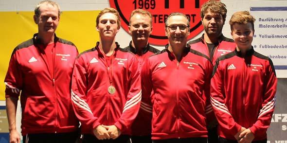 Die erfolgreichen Athleten Paul Brückner, Lucas Hummel, Artur Kraft, Thomas Schüttler, Alexander Conrath und Jan Brückner.