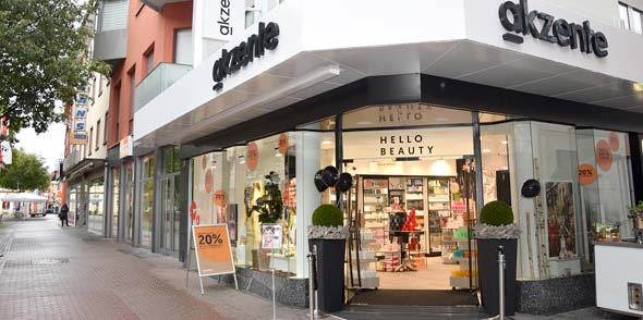 Die Parfümerie akzente in der Kämmererstraße 36 in Worms.
