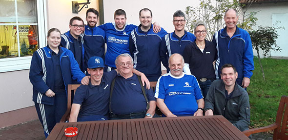 Beim KSC Frammersbach hatten die Monsheimer Sportkegler gut Lachen, schließlich gingen sie als Sieger von der Bahn.