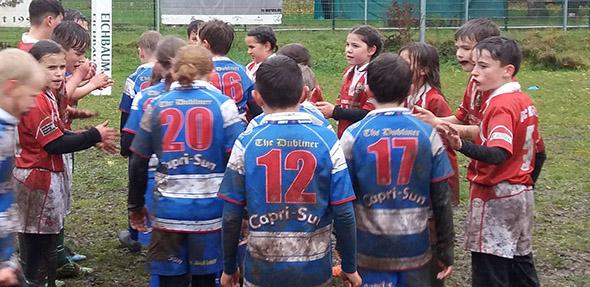 Die Rugby-Kids waren mit viel Engagement bei der Sache und lieferten sich tolle Matches.