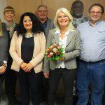 Der neu gewählte Vorstand des SPD-Ortsvereins West nach den Wahlen.