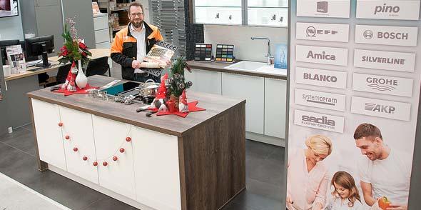 Florian Albert freut sich schon darauf, möglichst viele Kinder mit ihren Eltern zum Plätzchenbacken in der großen Ausstellungsküche begrüßen zu können.