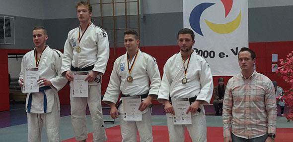 Christoph Braun (4. von links) qualifizierte sich mit dem 3. Platz für die Deutschen Einzelmeisterschaften.