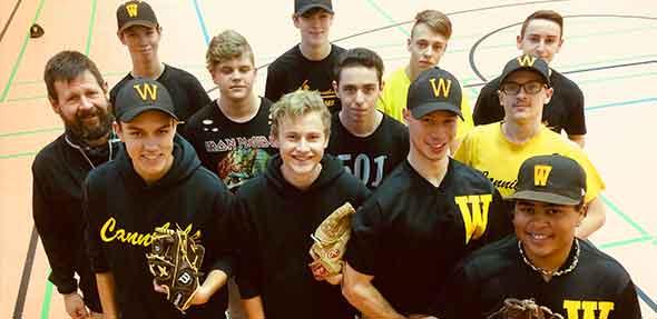 Immer mit Spaß bei der Sache: die TGW-Baseballer!