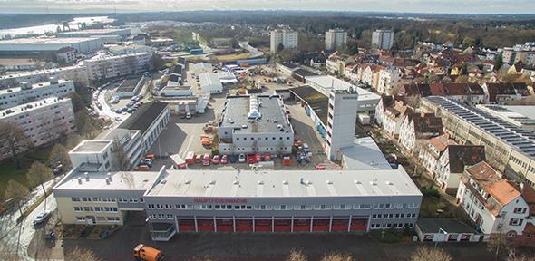 Die Hauptfeuerwache der Wormser Feuerwehr soll von der Kyffhäuserstraße auf das Salamandergelände verlagert werden. Foto: wormser-bilder.de